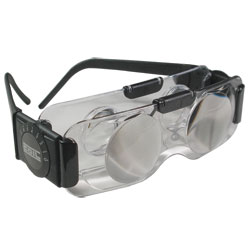 Coil 2X TV Spectacles - Ophthalmic Vision Hands-Free Binoculars - Clear Lens