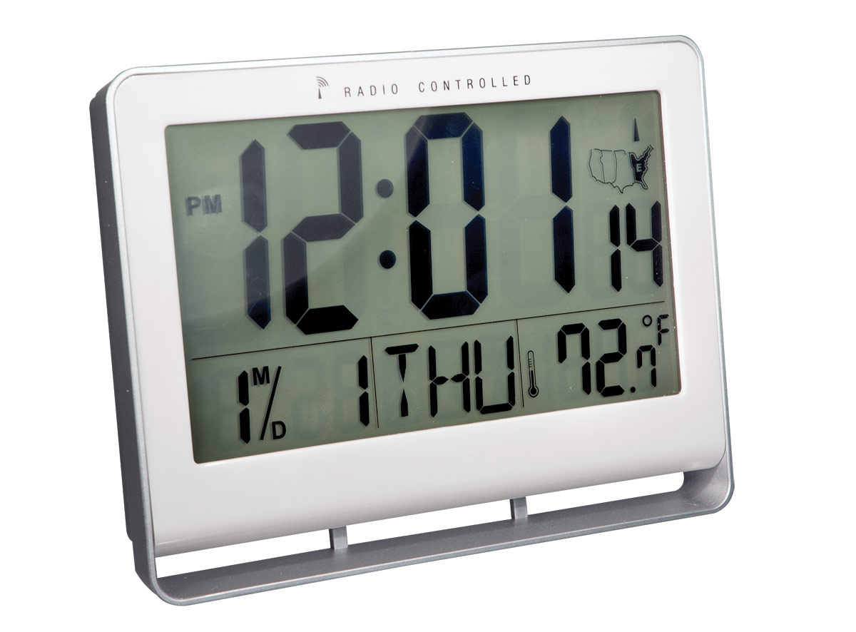 Atomic 2-inch LCD Number Clock with Temperature and Light