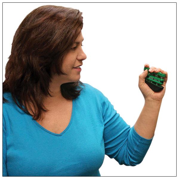CanDo Digi-Flex Hand and Finger Exerciser- Green- Medium Intensity