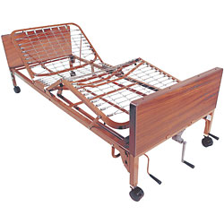 Multi-Height Manual Bed w-Half Rails
