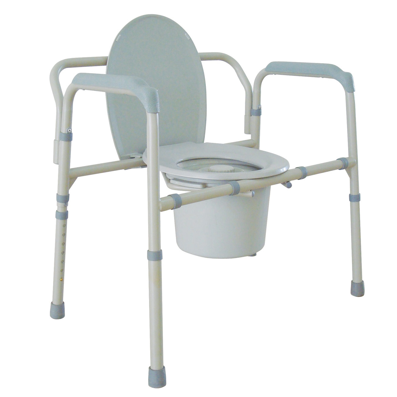 Extra Wide All-in-one Steel Commode