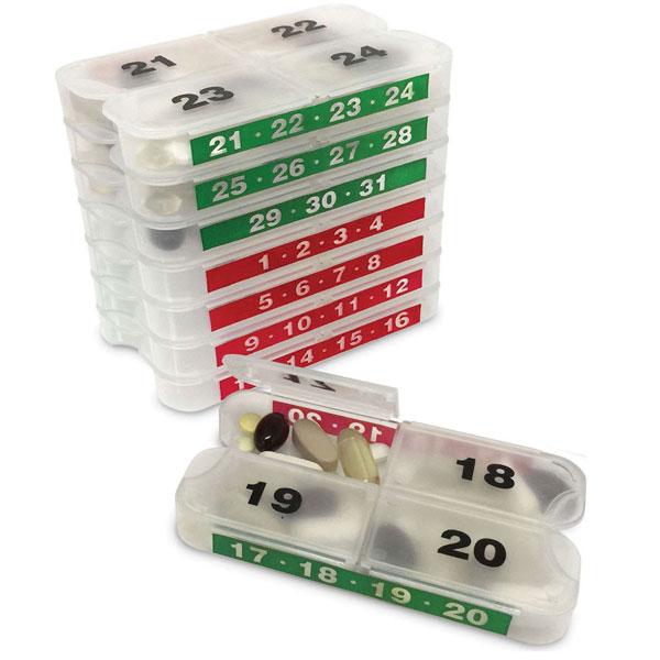 MedCenter SmartPack Monthly Pill Organizer Set - 31 Day