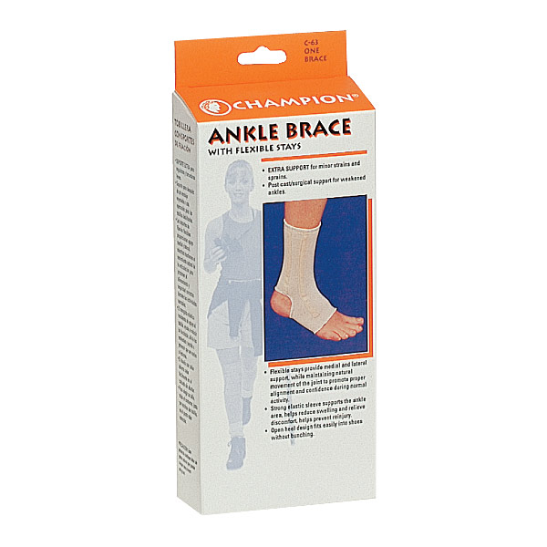 Ankle Support, Size Medium with Spiral Stays