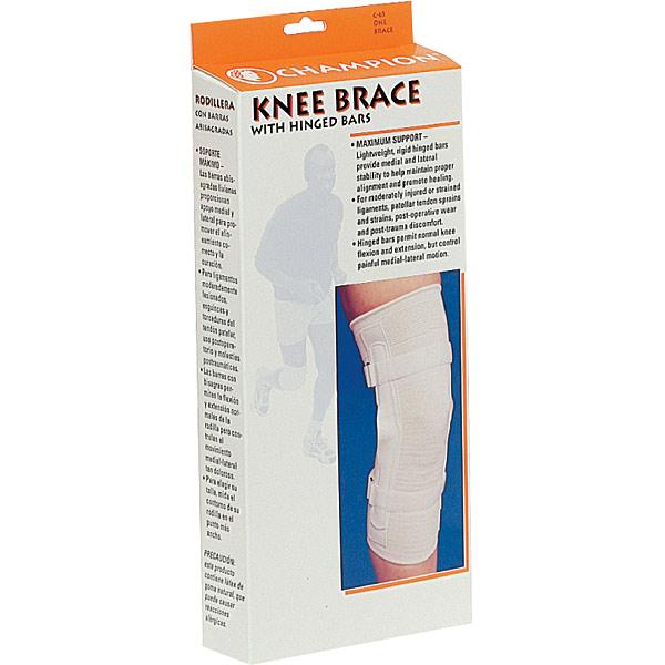 Knee Brace, Size X-Large - Hinged Bars