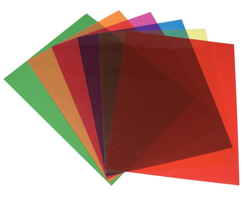Tinted Plastic Reading Sheets, Set of 5