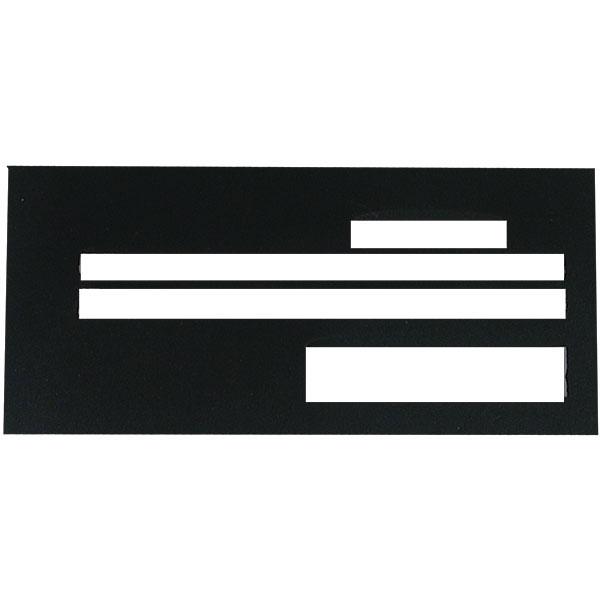 Check Writing Guide Superior Black Plastic