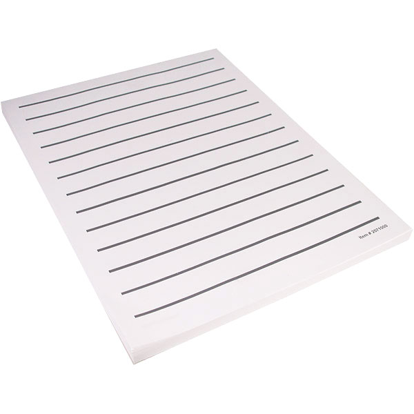 Low Vision Writing Paper - Bold Line -5 pads