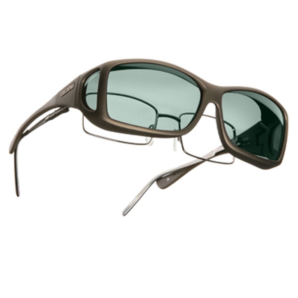 Cocoons ML Wide Line OveRx Sunwear-Sand Fr-Gray Lens
