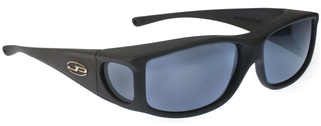 Jett Matte Black Fit Over Sunglasses - Polarvue Gray