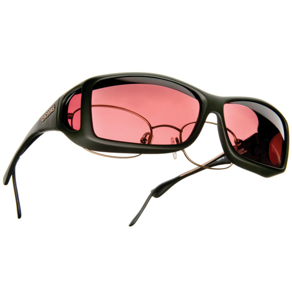 Cocoons Low Vision Wide Line ML Sunglasses-Black-Boysenberry