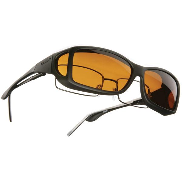 Cocoons Low Vision OveRx Eyewear Wideline ML Black-Hazelnut