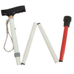 Adjustable Folding Support Cane f-t Blind 33-37-in