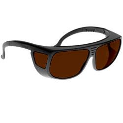 Noir Spectra Shields Large Adjustable -Fitover 4 Percent Dark Amber
