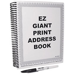 EZ Giant Print Address Book