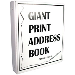 Compact Edition Giant Print Address Book for Low Vision