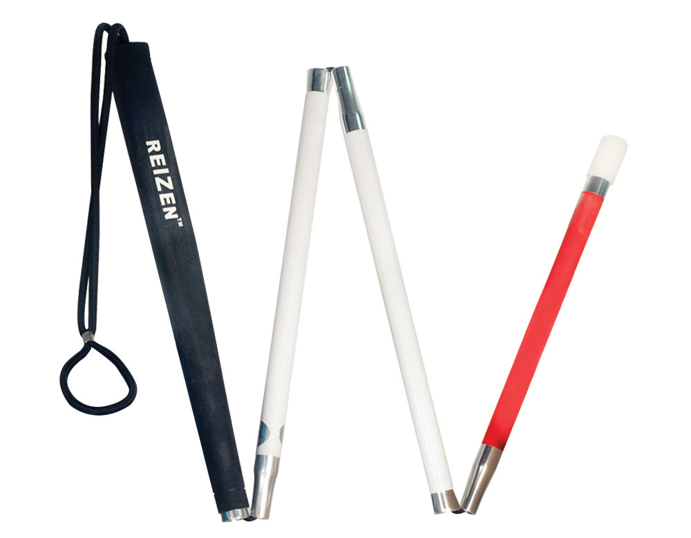 Europa Folding Cane with Tie On Loop Tip - 34 inches