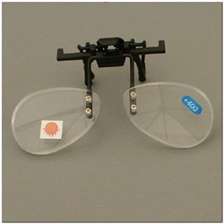 Walters 1.5D Half Frame Clip-On Loupe Magnifier - Bottom Half of Lens