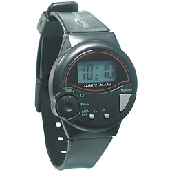 Tel-Time IV Talking Watch-English-Unisex-Black