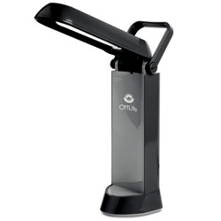 OttLite Folding Task Lamp- Black