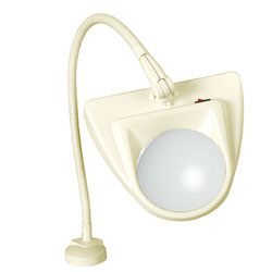 Dazor 5D Almond Clamping LED Magnifier Lamp with Flex-Arm