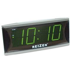 Reizen Super Loud Alarm Clock with 1.8-Inch Green LED