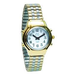 Ladies Royal Tel-Time Talking Watch - White Dial - Expansion Band