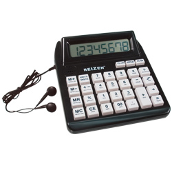 Reizen Talking Calculator with Repeat Key- English