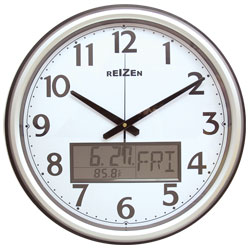 Low Vision Analog-LCD Wall Clock-Calendar-Thermometer