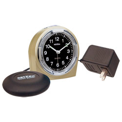 Reizen Braille Quartz Alarm Clock with Bed Shaker Combo