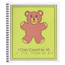 Braille Childrens Book- I Can Count to Ten
