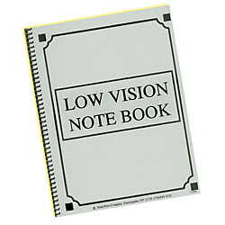 Low Vision Notebook - Bold Lines - Yellow Paper