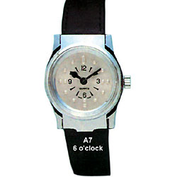 Ladies Gold Tone Quartz Braille Watch with Leather Band