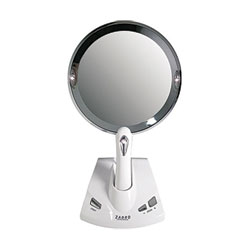 Zadro Motorized Power Zoom Lighted 1x-5x Magnification Fogless Vanity Mirror