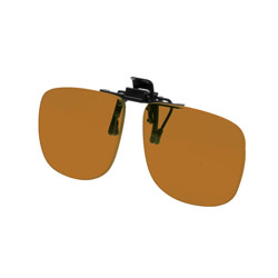 Noir Large Flip-Up Clip On Uv And Infrared 18 Percent Amber