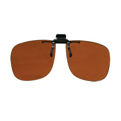 Noir Large Flip-Up Clip On Uv & Infrared 4 Percent Dark Orange