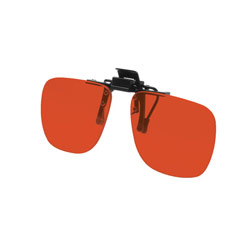 Noir Small Flip-Up Clip On Uv And Infrared 52 Percent Red-Orange