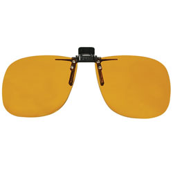 Noir Large Flip-Up Clip On Uv & Infrared 2 Percent Dark Amber