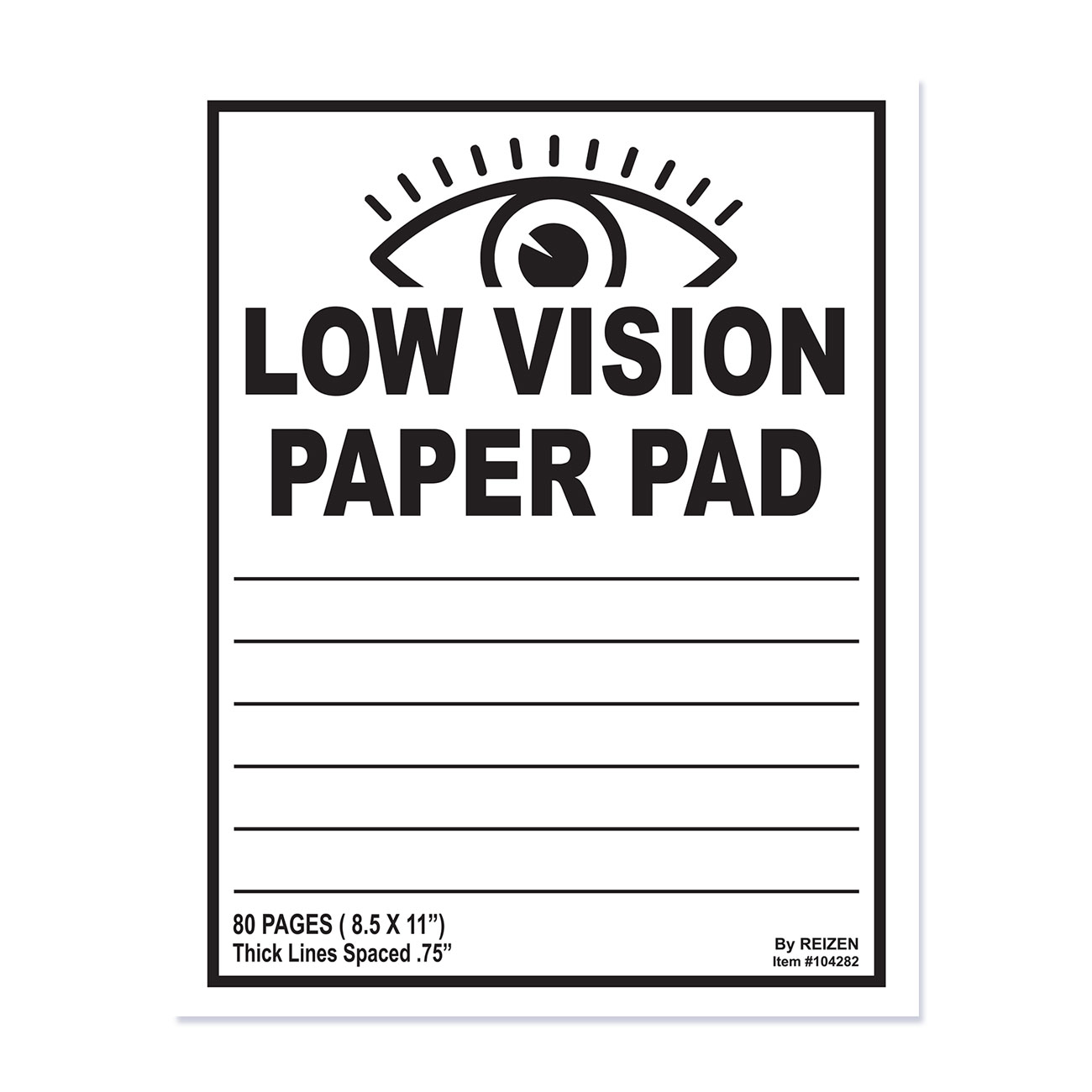 Low Vision Notebook