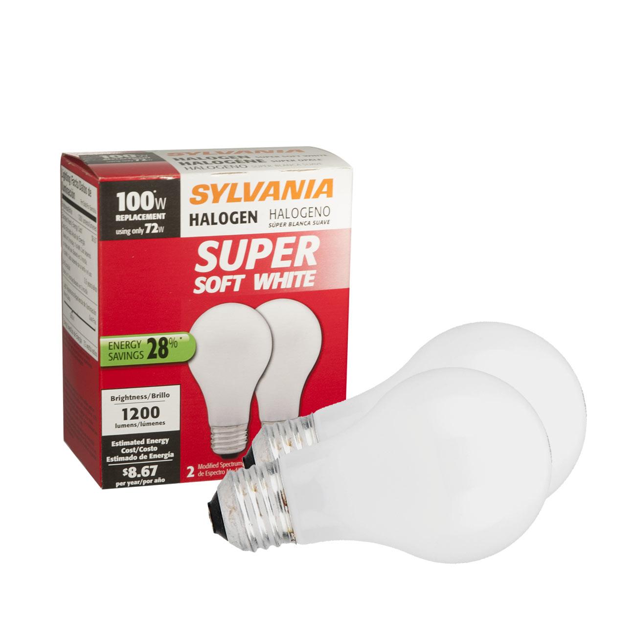 Sylvania Halogen Light Bulb - 2 Pak