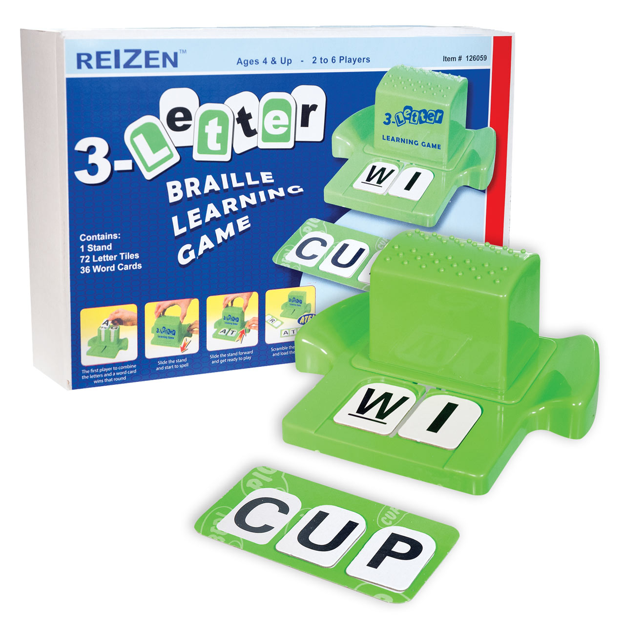 3-Letter Braille Learning Game