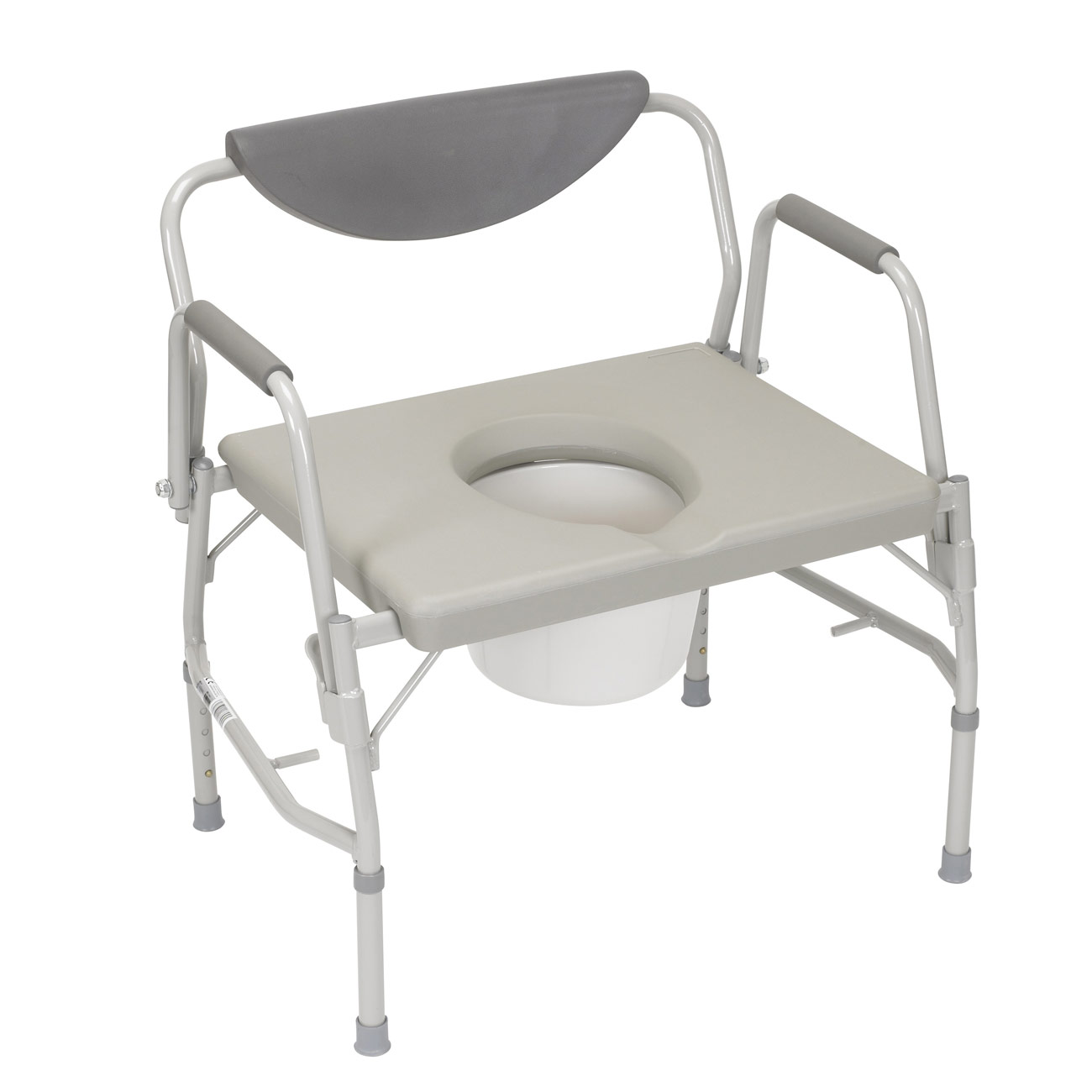 Oversized Drop-Arm Commode