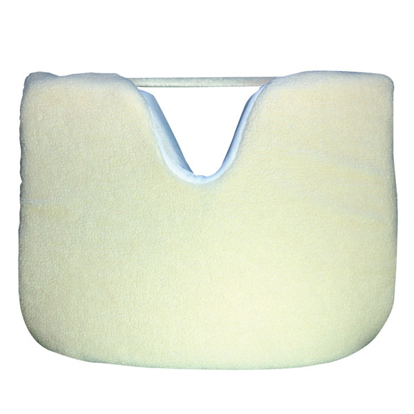 Synthetic Shearling Covered Coccyx Wedge