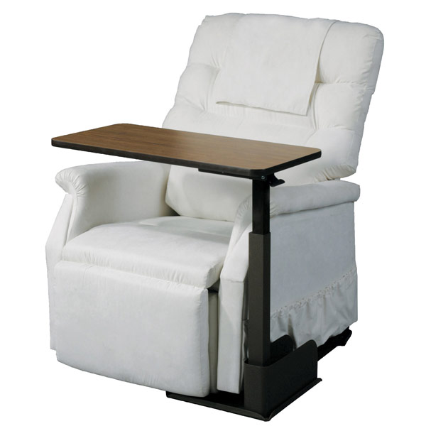 Deluxe Seat Lift Chair Overbed Left Side Table