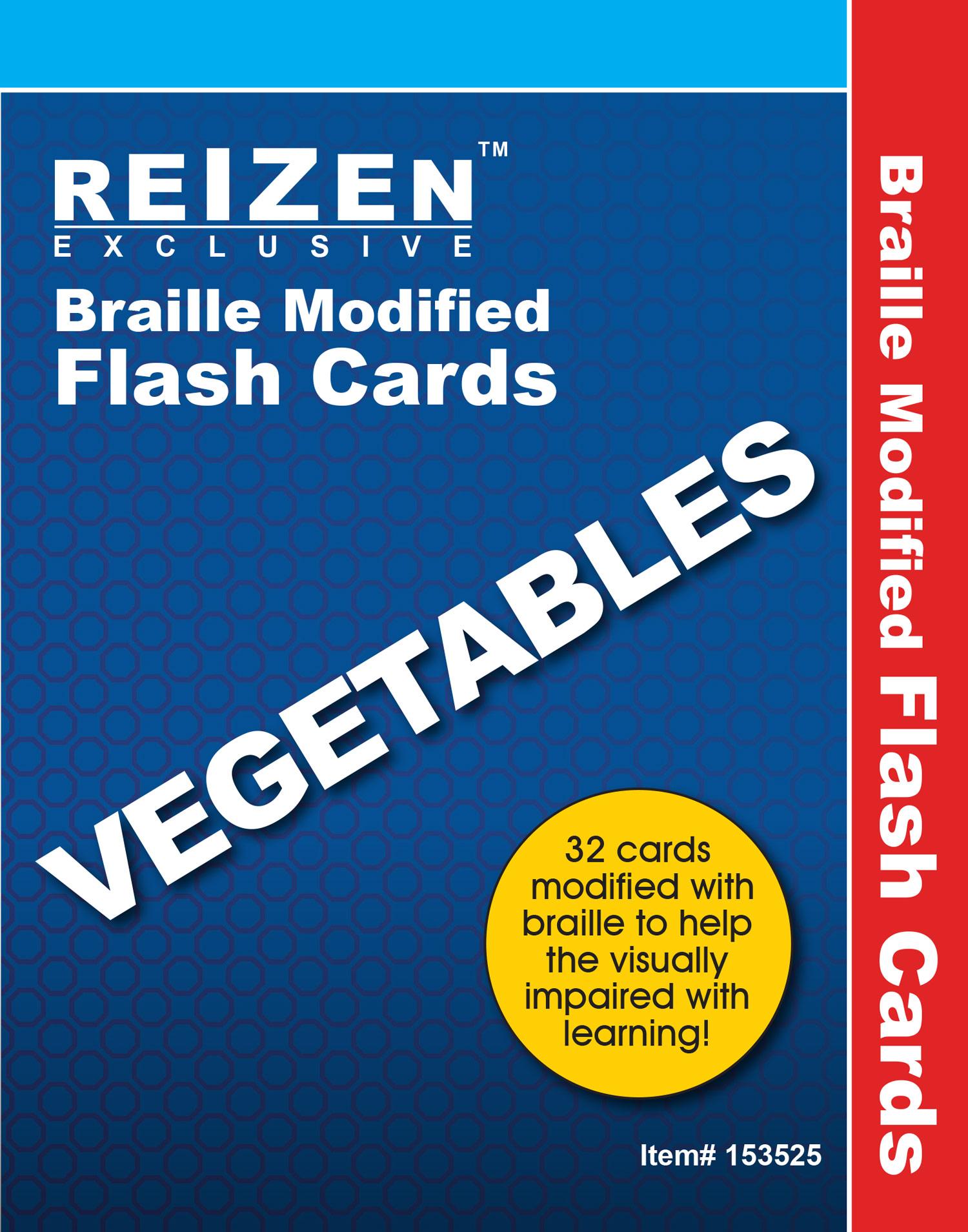 Vegetable Flash Braille Cards