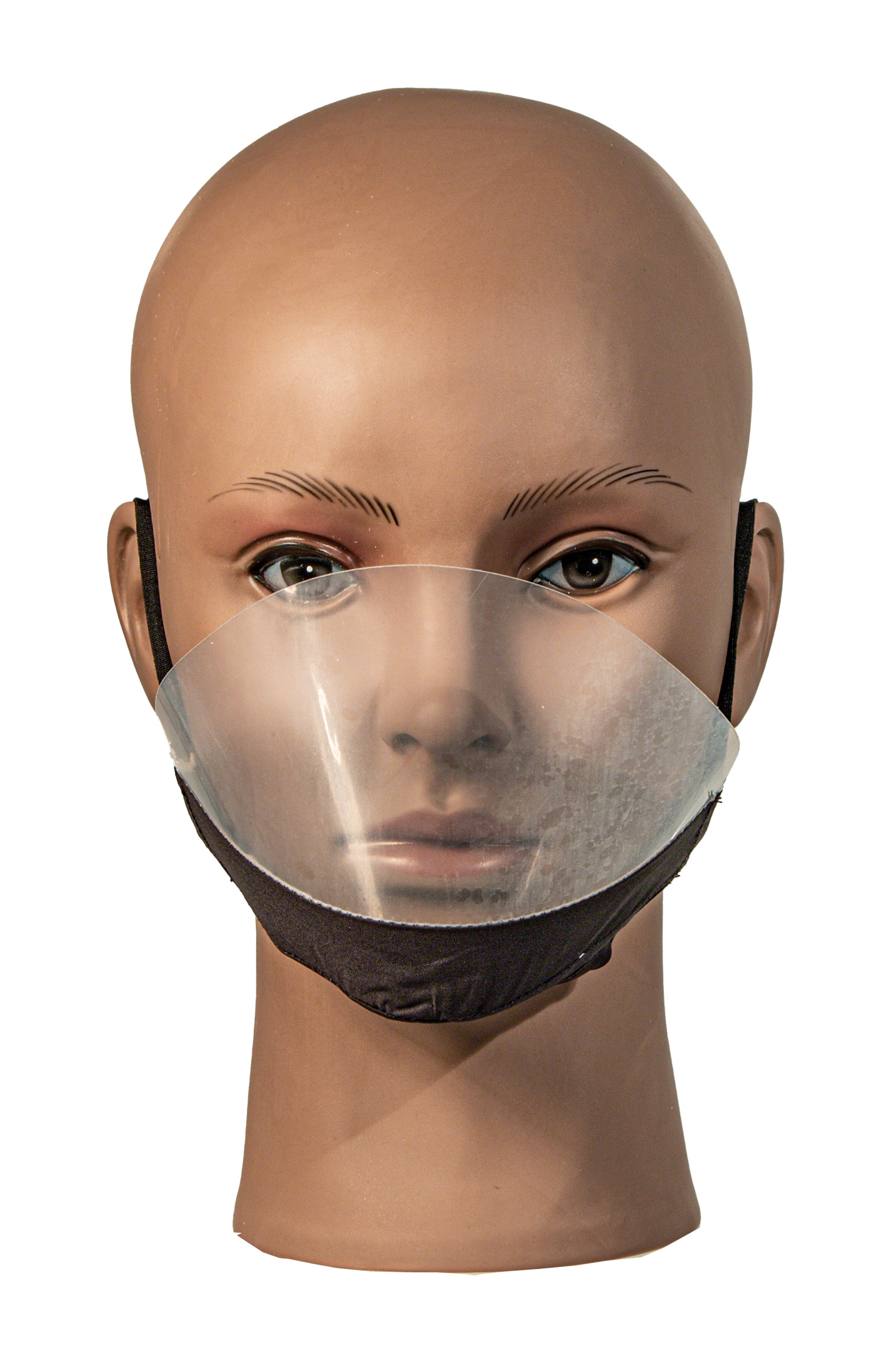 Deaf Mute transparent Facemask with Anti-fog- BLACK