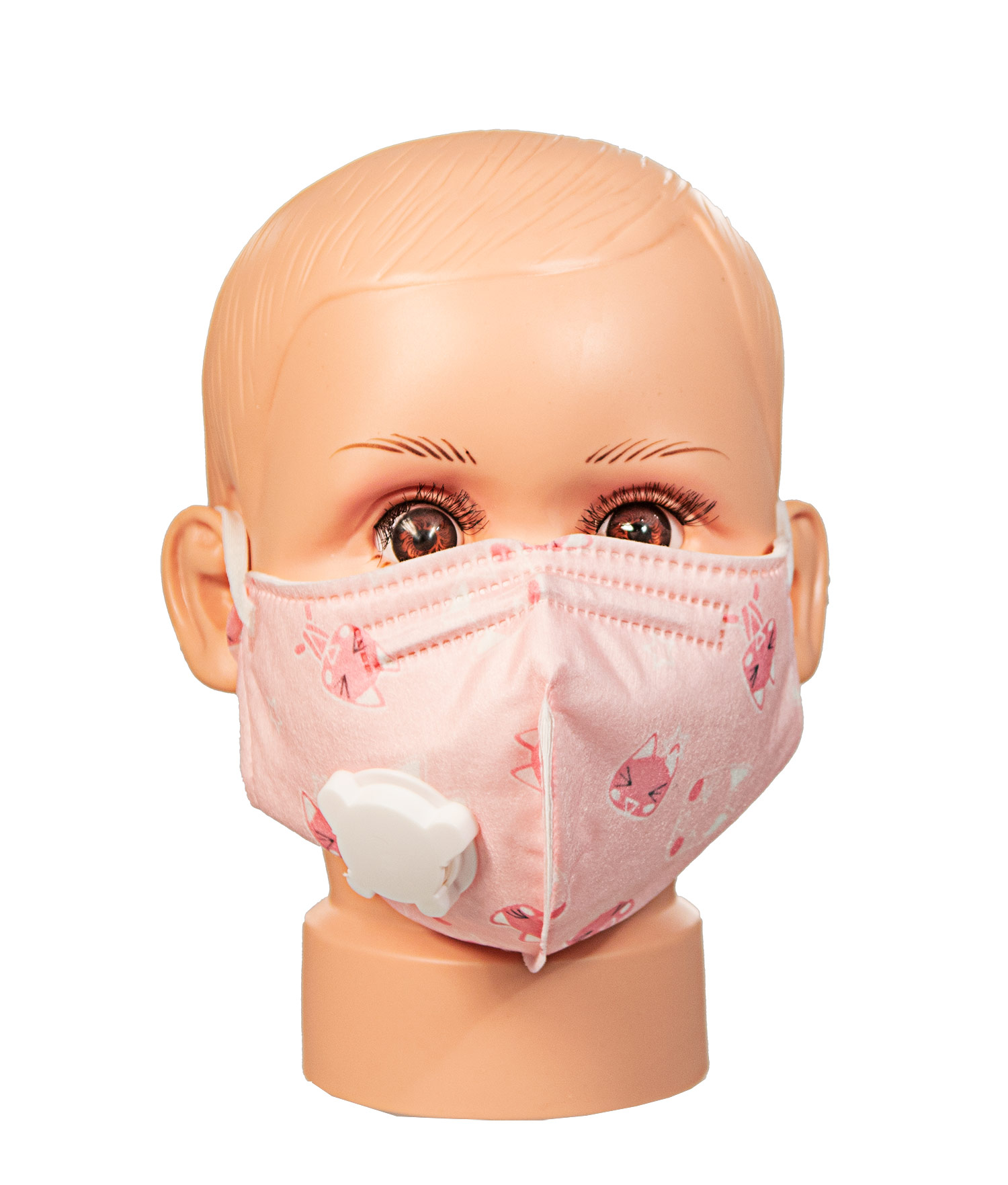 Pink Pattern CHILD cotton face mask with vent