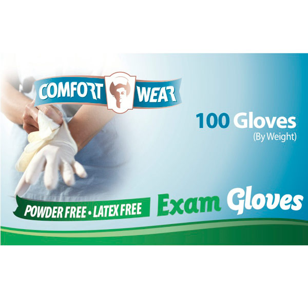 Vinyl Exam Gloves - X-Large -100-bx
