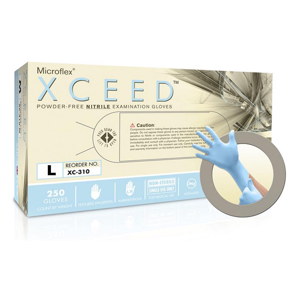 Powder-Free Nitrile Examination Gloves -Large