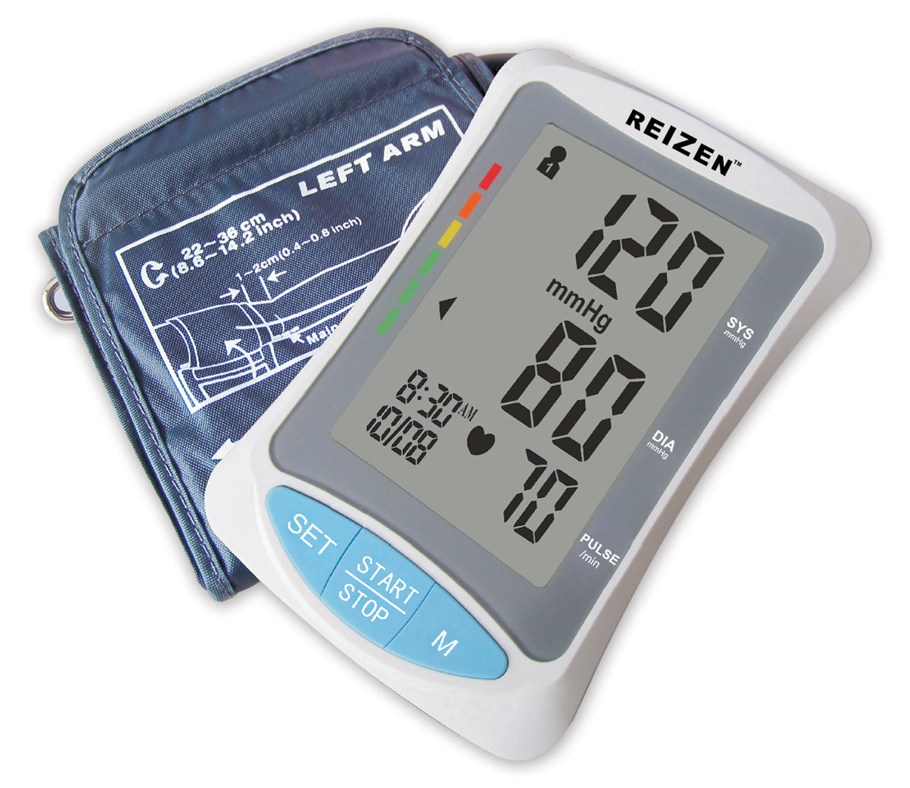 Talking Arm-Type Blood Pressure Monitor - English+Spanish