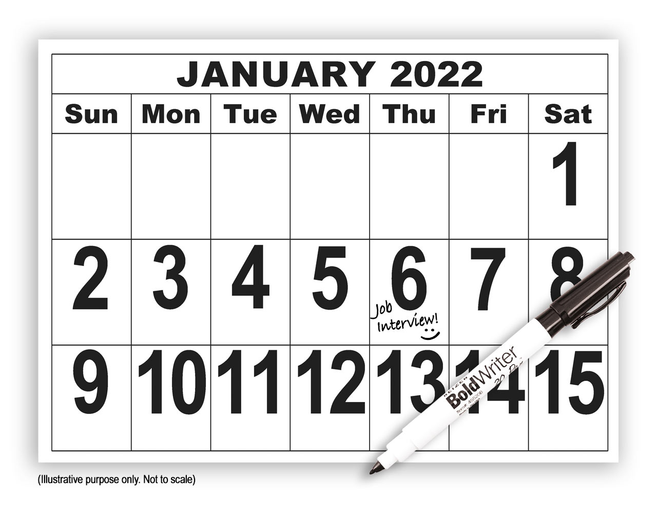 2022 Giant Print Calendar with Pen